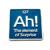 science enamel pin   Ah! the element of surprise science pin   periodic element lapel pin