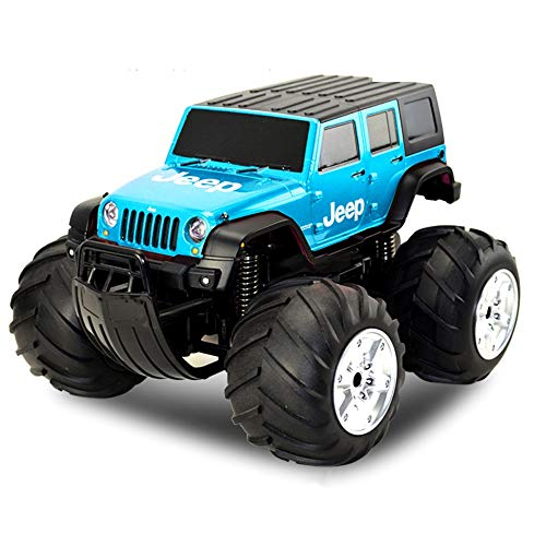 Pinjeer 332017cm Amphibious Off-Road Vehicle RC Adult Remote Control Car Four-Wheel Drive Stunt Charging Dynamic Drift Children's Toys Car Gift for Kids 8+ (Color : Blue-A, Size : 1-Battery) (8 Wheel Drive Amphibious Off Road Vehicle)
