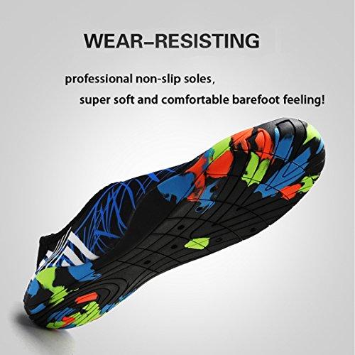 Yoga APTRO Wassersport Unisex Strandschuhe Herren blau Badeschuhe Aquaschuhe für Strich 4nSCnZqwHR