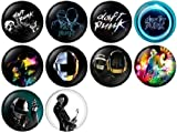 Daft Punk Pinback Buttons Badges/Pin 1 Inch (25mm) Set of 10 New