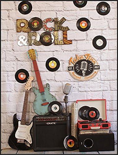 Gray Bricks - Fondo de Vinilo para Guitarra, diseño de música en ...