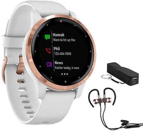 Garmin Vivoactive 4S Smartwatch 010-02172-21 with Wireless Sport Earbuds More