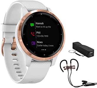 Garmin Vivoactive 4S Smartwatch (010-02172-21) with Wireless Sport Earbuds & More