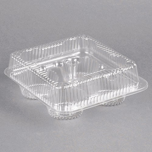 1/3 Dozen Cupcake Container (4 cavities), 12 ct. (4ct Plastic Cupcake Containers)