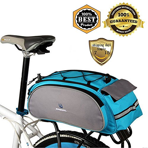 MeanHoo Bicycle Saddl Seatpost Bag Fashion Fixed Gear Fixie Pannier Saddle Rear Rack Seat Bag - Blue Practical New by Meanhoo