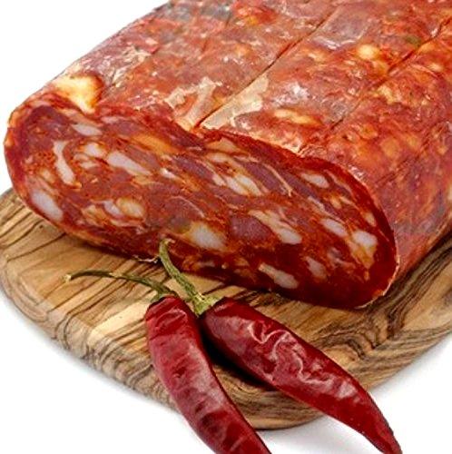 Spianata Schiacciata Artigianale Salame Piccante Stagionato Trancio 400 gr Prodotti Tipici calabrese Sfizi di Calabria 1 spesavip