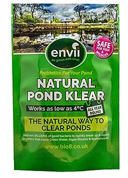 Envii Natural Pond Klear - Nettoyeur Pour Bassin Qui Élimine L'eau Verte et Traitement Qui Débarrasse Des Algues (Traite 20 000 Litres) Bio8