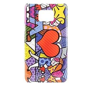 YULIN Teléfono Móvil Samsung - Cobertor Posterior - Diseño Especial - para Samsung S2 I9100 ( Multi-color , Plástico )