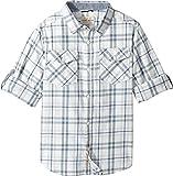 Lucky Brand Kids Boy's Long Sleeve Plaid Shirt (Big Kids) White Cloud Shirt