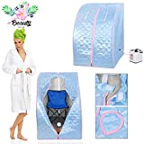 GC Global Direct 2L Portable Home Steam Sauna Spa Slimming Full Body Detox Therapy (Blue)