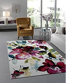 designer teppich moderner teppich wohnzimmer teppich blumenmotiv ... - Wohnzimmer Rosa Turkis