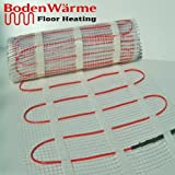 Underfloor Heating Mat 200w /m² + Thermostat. *ALL SIZES* BodenWärme Premium Quality, Electric Dual Core Under Tile Heating (4.0m², No Thermostat Required)