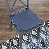 """Lavish Home 82-TEX1043BL Memory Foam Chair Cushion-Square 16""""x 16.25"""" , Blue"""