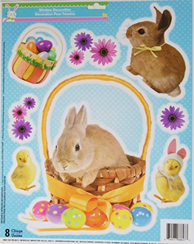 11.75' Art Print Poster (Easter Window Clings - Bunnies and Chicks - 8 Piece)