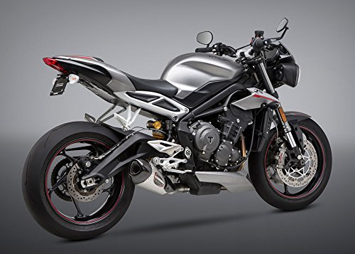 18 TRIUMPH ST-TRIPLE765RS: Yoshimura Alpha T Slip-On Exhaust (Street/Stainless Steel/Stainless Steel/Carbon Fiber/Works Finish)