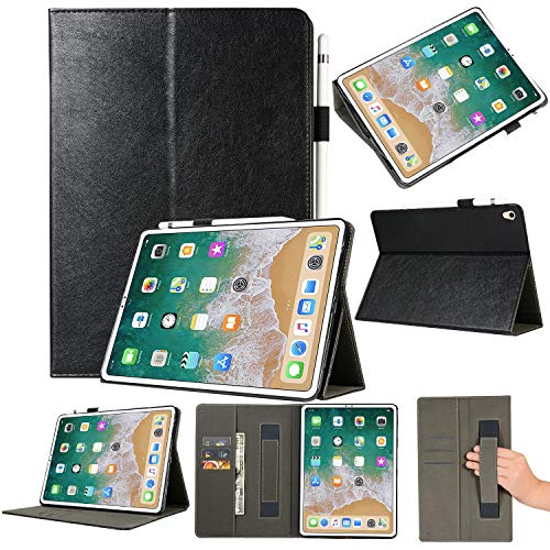 Tuff-luv Faux Leather Smart Cover & Stand Hand Grip & Pen Holder for Apple iPad Pro 12.9
