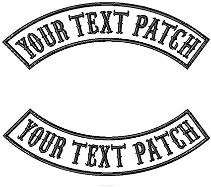 Patch badge embroidered border printed morale iron biker motocross motorcycles V