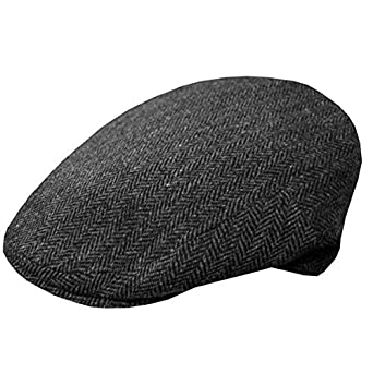 8cb458e72dd DelMonico Dark Grey Herringbone Ivy Cap by Doria at Amazon Men s Clothing  store