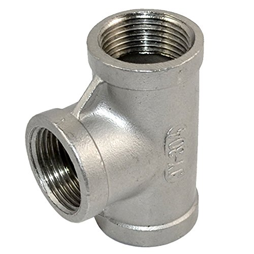 T Shaped Thread 3 Way Equal Tee Coupling SS 304 3/4