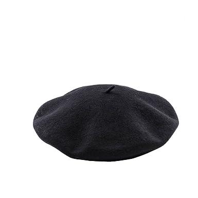 Beret Militaire Femme Homme Beret Chapeau Marin Retro Unisex Laine Artiste  Francais Hiver Mode Accessoire Hat e567d0784fa