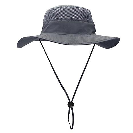 db06da69499 Egoz  Coconut  Sun Hat Outdoors UV Protection Wide Brim Boonie Travel Cap  Breathable Hunting