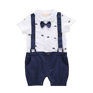 b797bb59e5e43 Mornyray ベビーフォーマル 男の子 ロンパース 半袖 カバーオール 新生児洋服 赤ちゃん 蝶ネクタイ付き 子供服 結婚