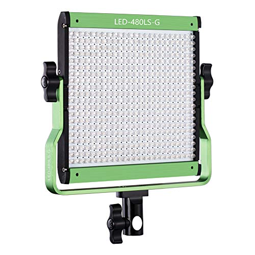 GVM Dimmable Bi-color LED Video Panel Light Variable 2300K~6800K With Digital Display For Studio. CRI97+ TLCI97 + & Brightness of 10~100% Metal Housing for Video Photography Lighting 29W