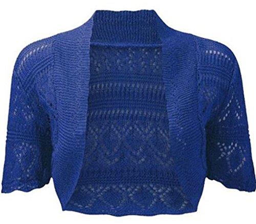 Frauen häkeln zucken Strickjacke Bolero Pullover oben gestrickt ...