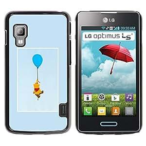 All Phone Most Case / Hard PC Metal piece Shell Slim Cover Protective Case Carcasa Funda Caso de protección para LG Optimus L5 II Dual E455 E460 cute bear cartoon character drawing