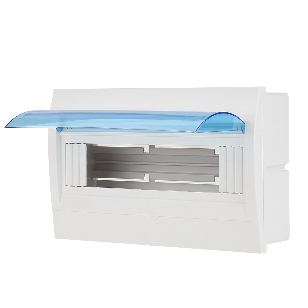 1pc Plastikverteilerschutzkasten f/ür 9-12 M/öglichkeiten Leistungsschalter Innen an der Wand Verteilerkasten
