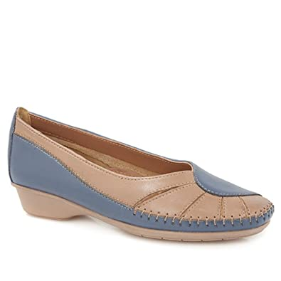 b92f35d9a57e Pavers Casual Pump With Contrasting Overlay 146 493 - Blue Combi Size 11  (44)