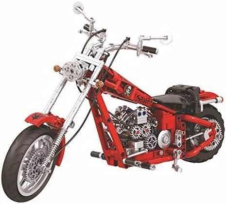 Technik Chopper Bausteine Motorrad 568 Teile Funktionierendes Getriebe Kompatibel Mit L O Technik Spielzeug