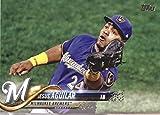 2018 Topps Series 2#442 Jesus Aguilar Milwaukee Brewers Baseball Card - GOTBASEBALLCARDS