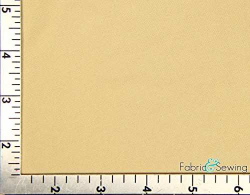 Cream Beige Helenca Pique Swimwear Lining Fabric 4 Way Stretch Nylon 4 Oz 56-58