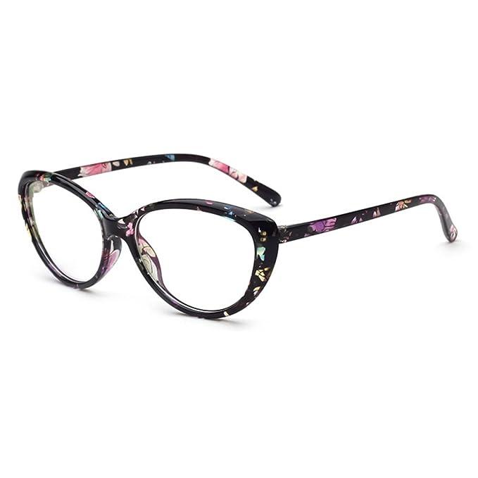 7d2276233a Hibote Occhiali Cat Eye da uomo donna - Occhiali da vista trasparenti -  Occhiali da vista 122903