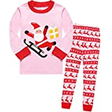 Winzero Girls Christmas Pyjamas Set Cute Kids Long Sleeve Cotton Pjs Pajama Sleepwear Tops Shirts & Pants Nightwear Children Outfit 1-7 Years