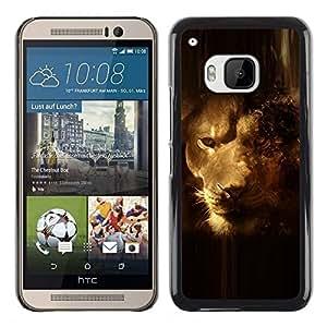 PC/Aluminum Funda Carcasa protectora para HTC One M9 Lion Portrait Art Cloud Safari Big Cat Whiskers / JUSTGO PHONE PROTECTOR
