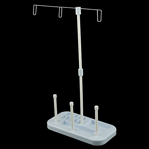 Amazon.com: Jili Online Plastic 3 Spools Sewing Machine Thread Holder Thread Stand for Sewing Embroidery: Home & Kitchen