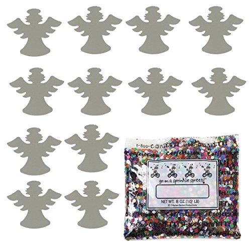 Confetti Angel w/Halo Silver - Half Pound Bag (8 oz) - (CCP9546-08A) by Jimmy Jems