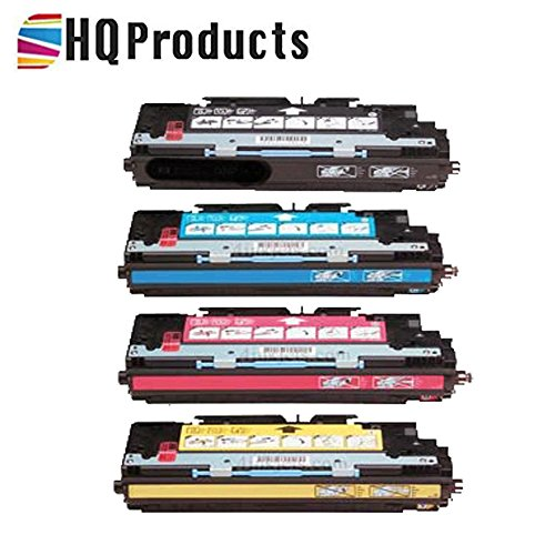 HQ Products Remanufactured Replacement for HP 308A Set 4Pk (Q2670A, Q2671A,Q2672A, Q2673A) Black, Cyan, Yellow, Magenta Toner Cartridges for HP Color Laserjet 3500, 3550, 3700 Series Printers.