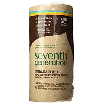 Seventh Generation Paper Towels, Natural, 2-Ply, 120 sheets,1 ct