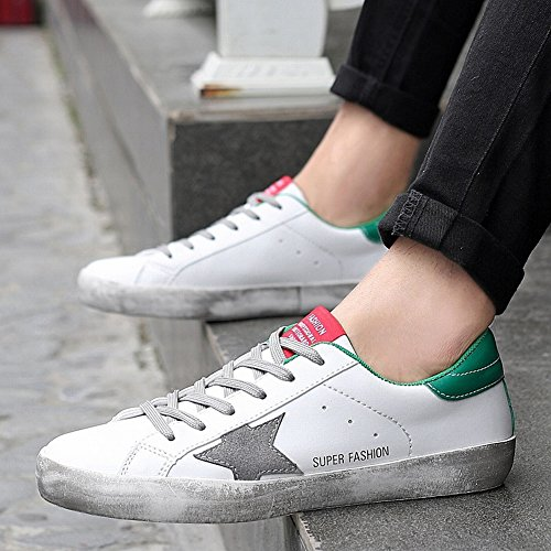 YTTY Sporche Casual Sporche Moda Confortevole Urbane Scarpe Scarpe Di Scarpe Di Di assortito Traspirante Coppia verde Bianco Tendenza 81w8Eqr