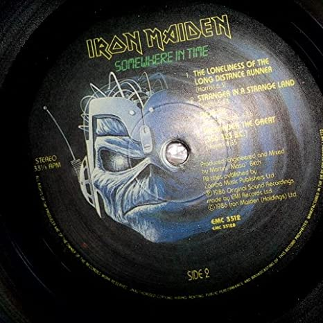 Iron Maiden - Somewhere In Time --> Vinyl, LP, Album EMI - EMC 3512 - RE Venezuela 1986 - Amazon.com Music