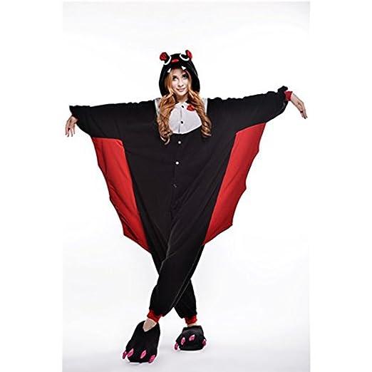 Amurleopard Unisex Adult Cosplay Costume Animals Pajamas Onesie Sleepwear  Black Bat S cef46684c