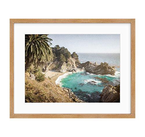 Framed Photographic Print, California Coastal Wall Art, Big Sur Picture, Julia Pffeifer Beach, Julia Pffeifer' ()