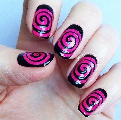 Spiral Vinyl Nail Guides - Vinyls, Stencils, Masks, Manicures, Pedicure Art
