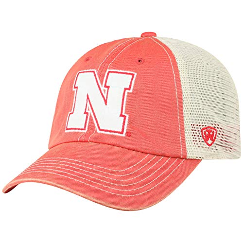 online store 66f4a 46a2b Top of the World NCAA Nebraska Cornhuskers Men s Vintage Mesh Adjustable  Icon Hat, Red