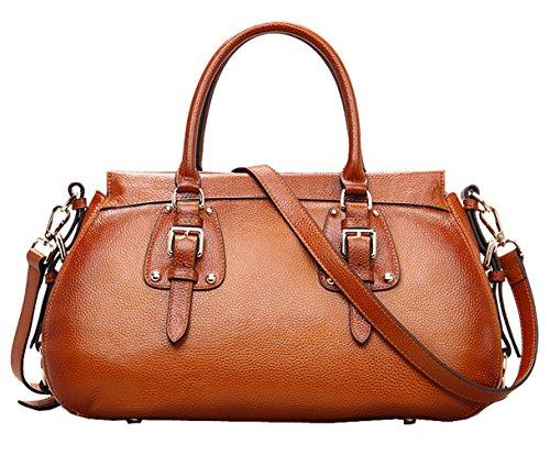 SAIERLONG Damen Europäischen Und Amerikanischen Stil Rot-braun Erste Schicht Aus Leder Handtaschen Damenhandtaschen Umhängetaschen Schultertaschen Rot-braun pJfLu9Et