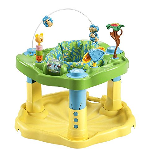 Evenflo Exersaucer Bounce & Learn, Zoo Friends (Stationary Baby Walker)