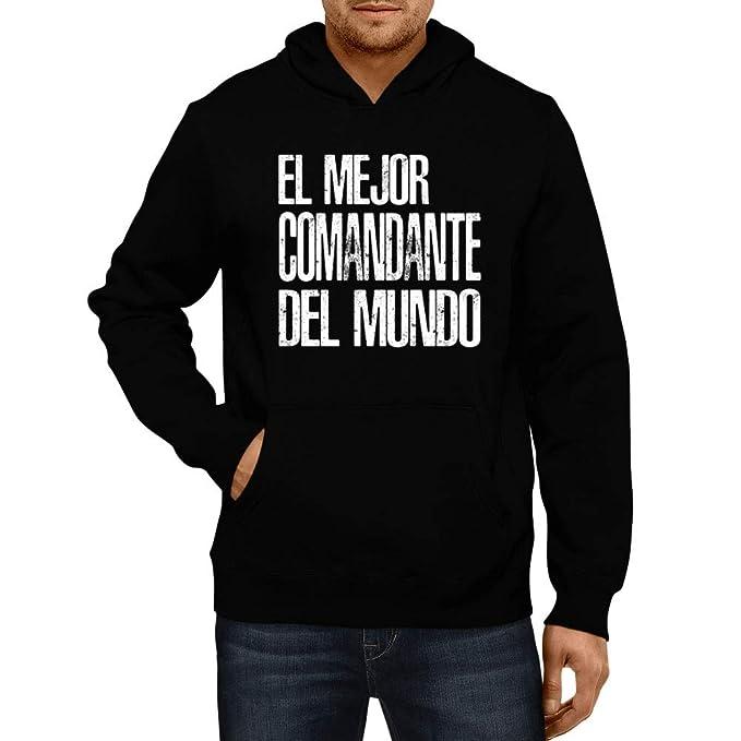Idakoos El Mejor Comandante del Mundo - Sudadera con Capucha: Amazon.es: Ropa y accesorios